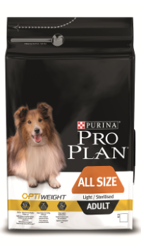 PRO PLAN ALL SIZE ADULT LIGHT/STERILISED с комплексом OPTIWEIGHT
