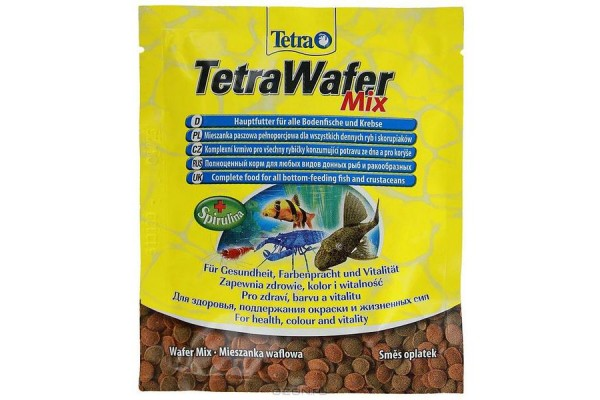 TETRA Wafer Mix (таблетки с креветкой д/плотоядных, травоядных донных рыб) 15гр