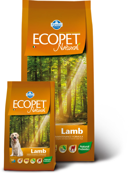 Ecopet Natural Lamb (д/собак с проблемами пищеварения и аллергией). Фото N2
