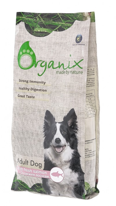 Organix Adult Dog Salmon (для собак со свежим лососем и рисом)