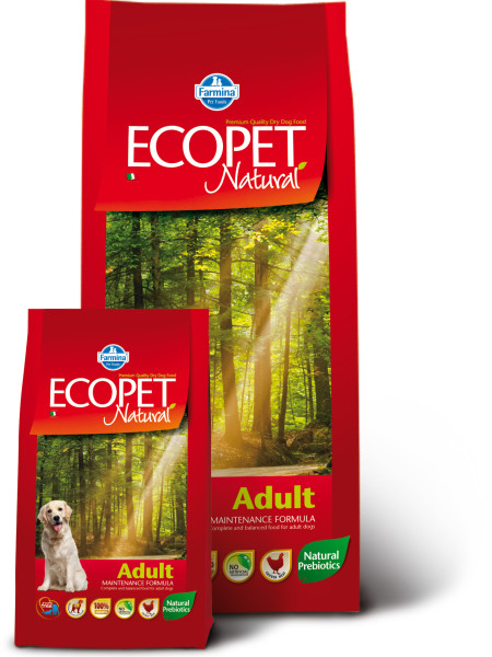 Ecopet Natural Adult (курица д/всех пород) 12кг