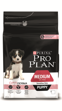 PRO PLAN MEDIUM PUPPY SENSITIVE SKIN с комплексом OPTIDERMA