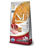 N&D Low Grain Chicken & Pomegranate Senior Medium/Maxi(спельта, овес, курица, гранат) для пожилых собак средних и крупных пород