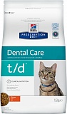 Hill's Prescription Diet™ t/d™ Feline для кошек, гигиена рта, курица 1,5кг